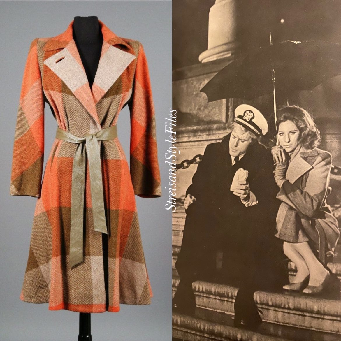 Katie's wedding night wool trench coat from The Way We Were