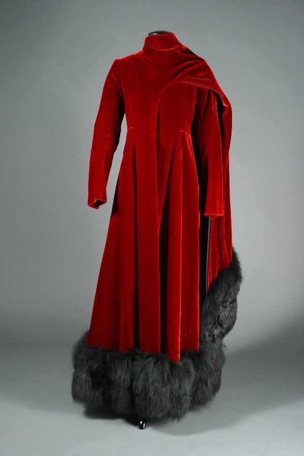 Funny Girl Red Velvet Coat Dress