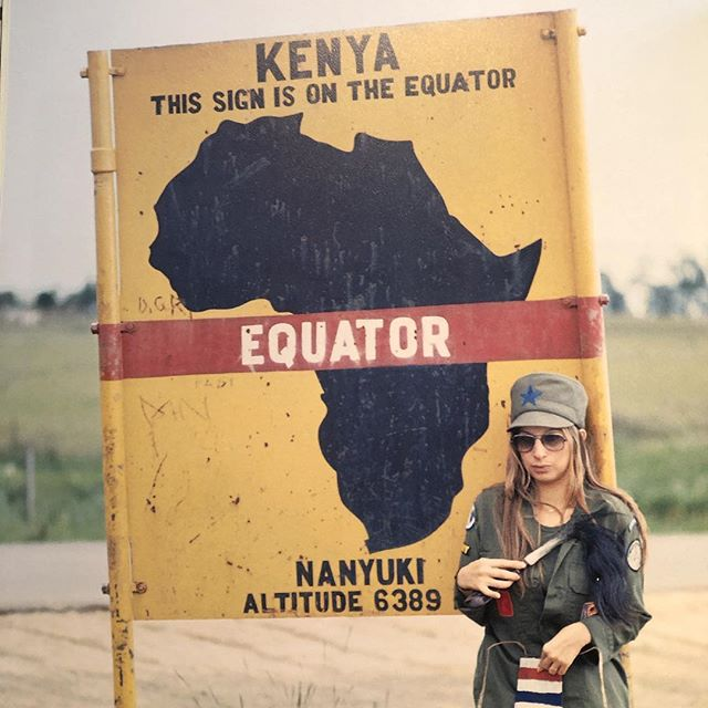 "1972-On Location In Kenya For ""Up The Sandbox"" In A OG-107 Shirt"