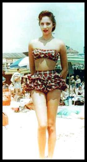 Barbra's 1950's Tartan Bikini