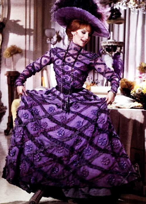 Hello Dolly Purple Floral Gown