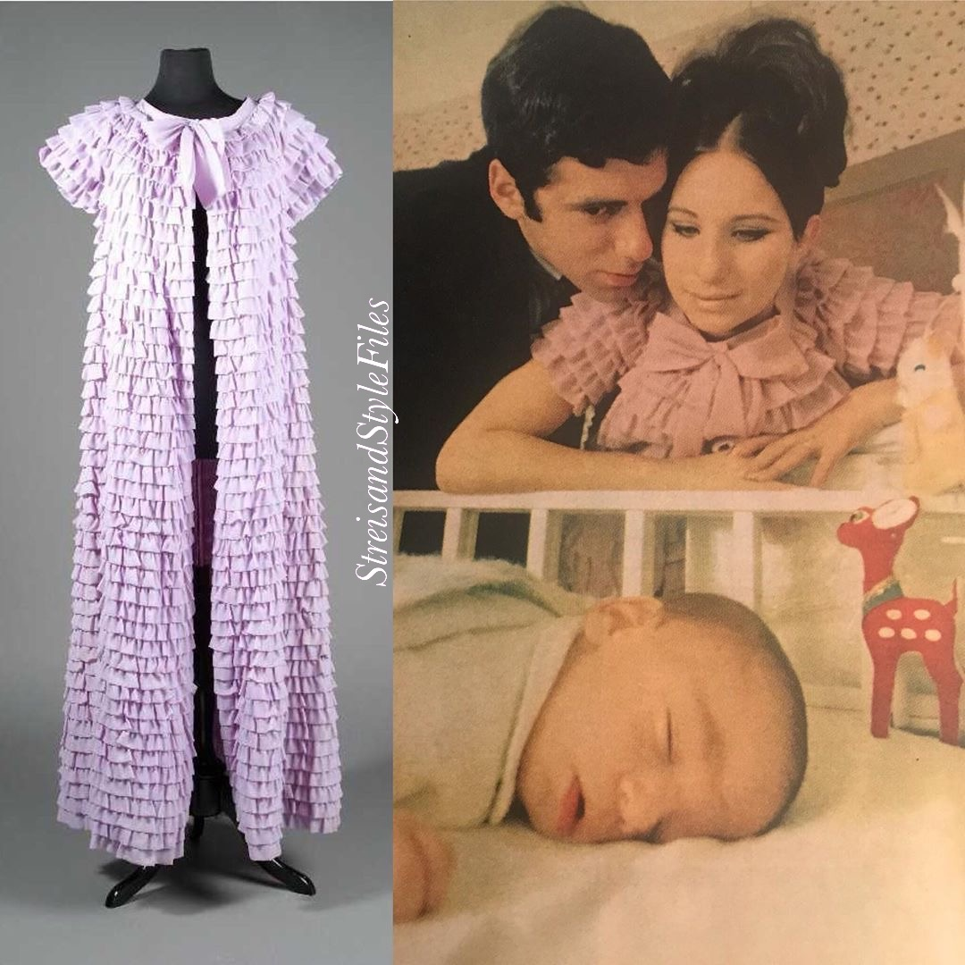 1967 LOOK magazine lavender nursing gown