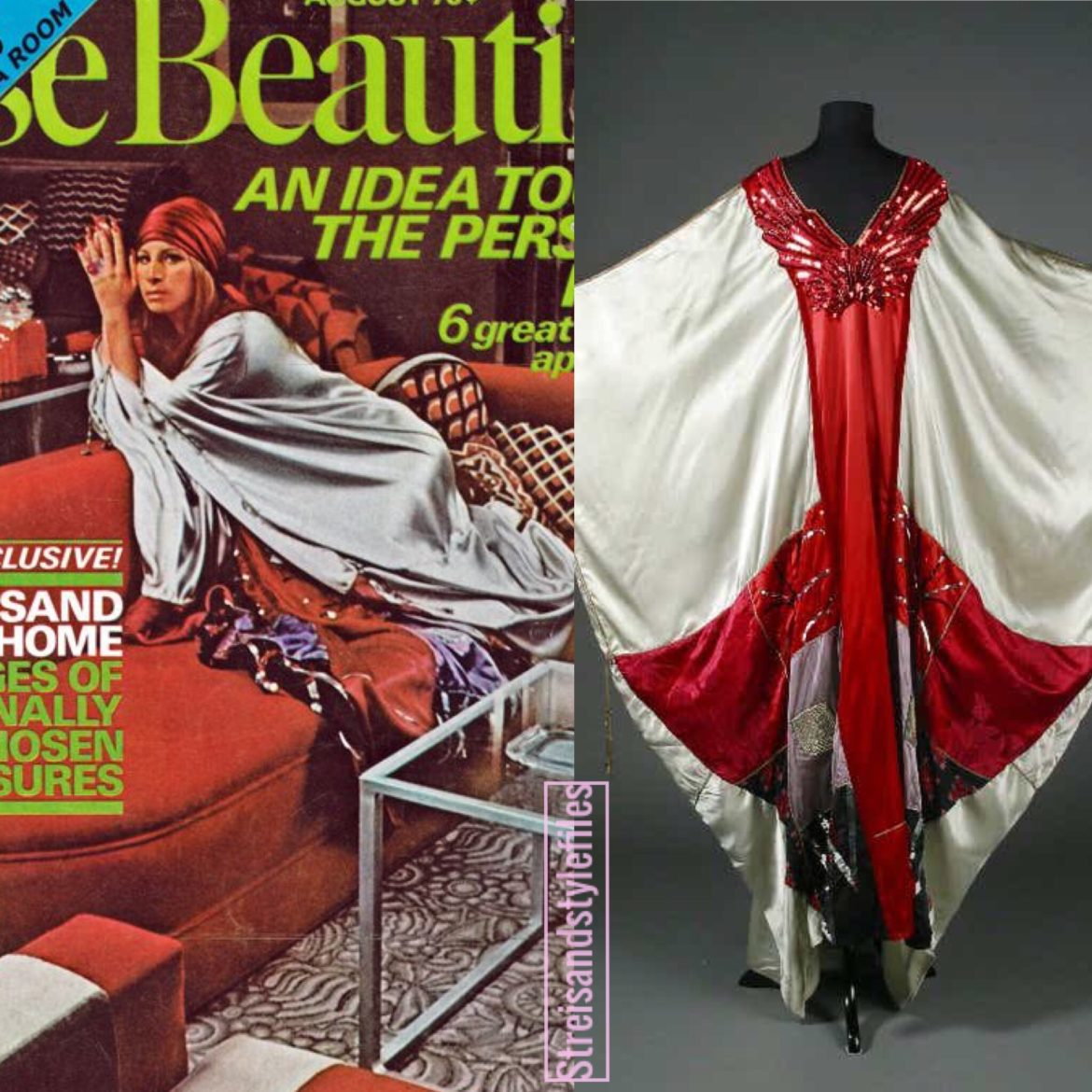 House Beautiful Cover In A Thea Porter Kaftan