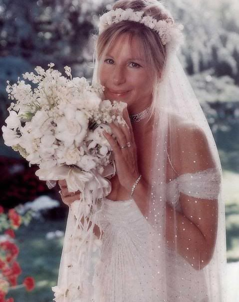 Barbra's Custom Donna Karan Wedding Gown
