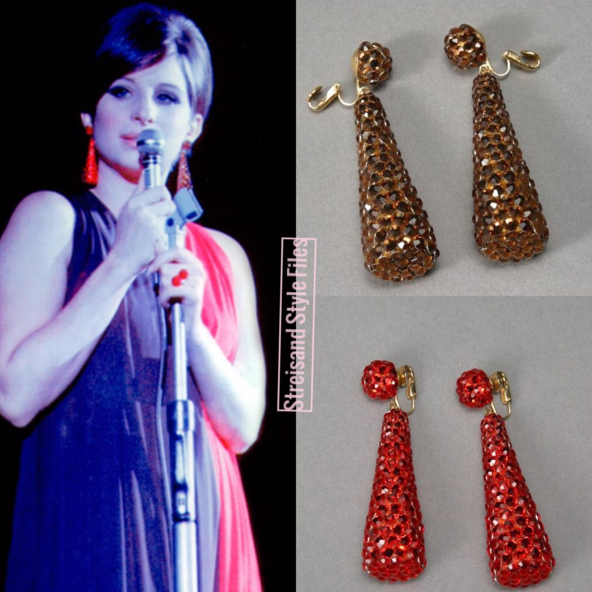 An Evening With Barbra Streisand, 1966 In Kenneth Jay Lane Earrings