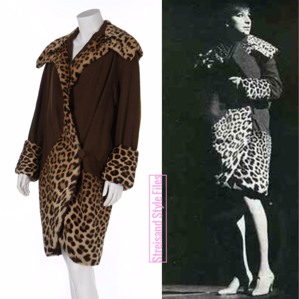 Funny Girl Broadway And West End Leopard/Wool Coat