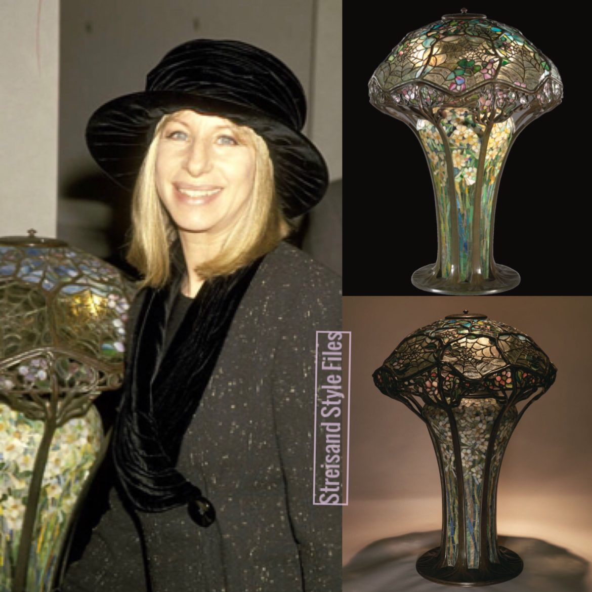 Barbra's Rare Tiffany Cobweb Lamp