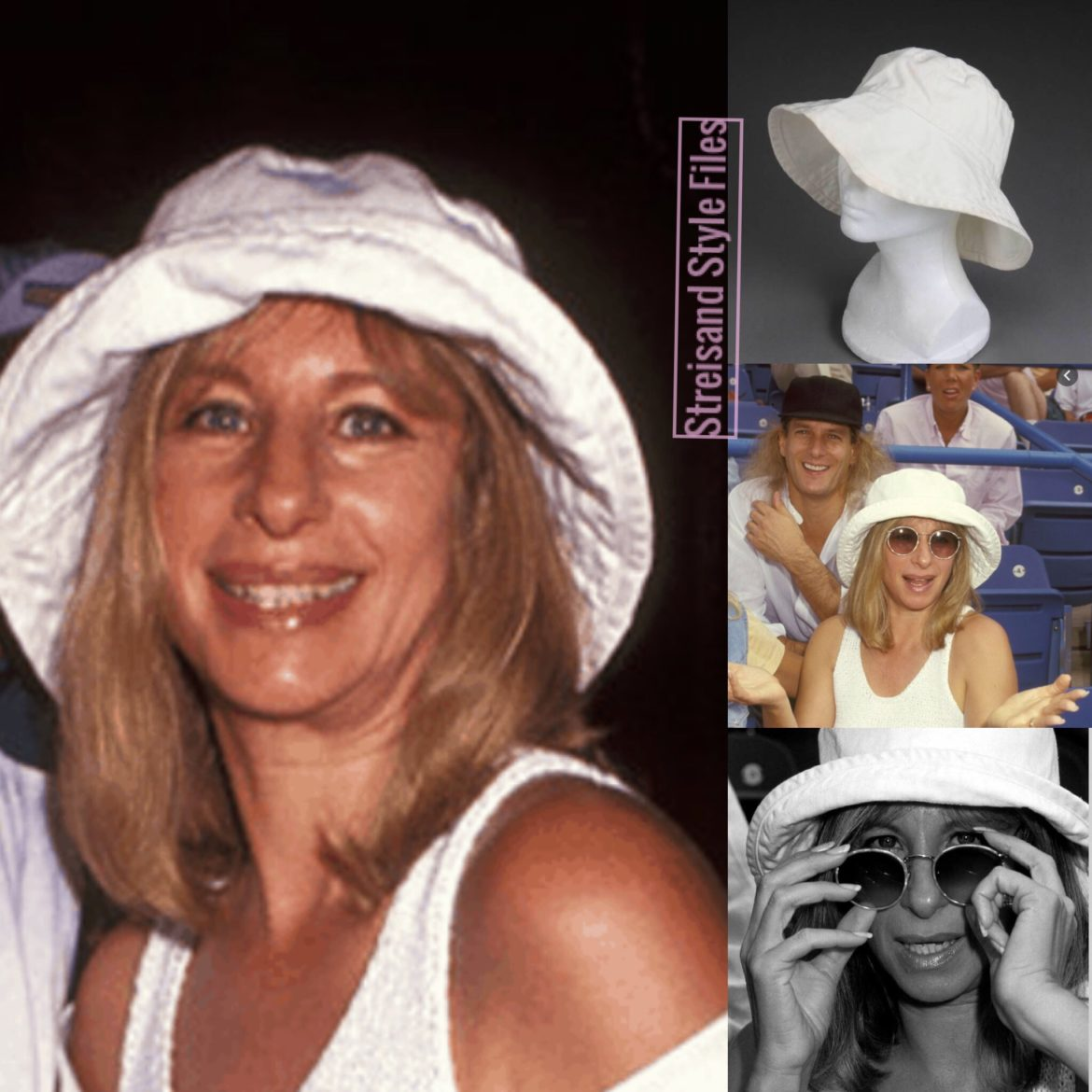 Barbra's White Hat Attack NY Bucket Hat