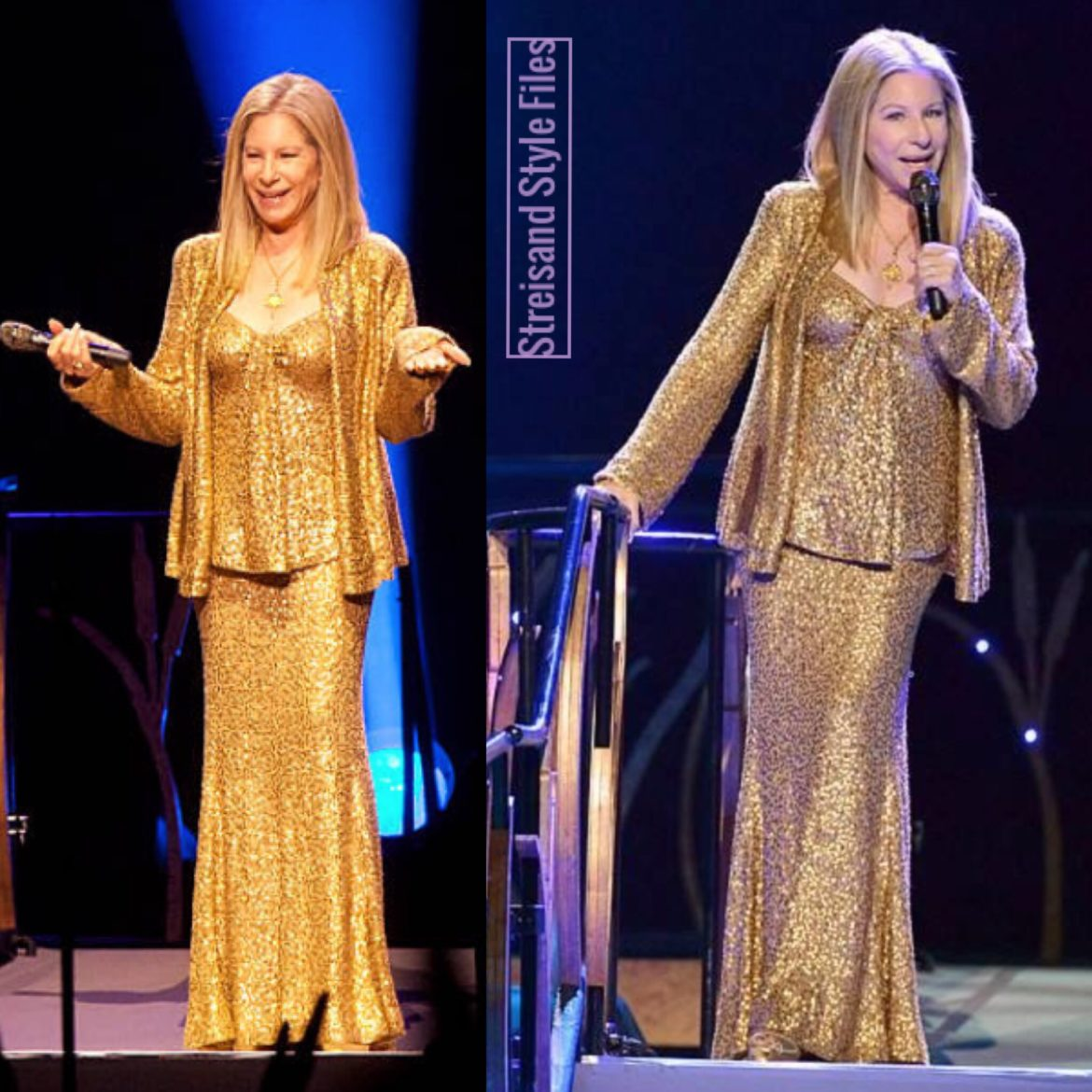 2013 Streisand Live, Berlin Show In Gold Donna Karan