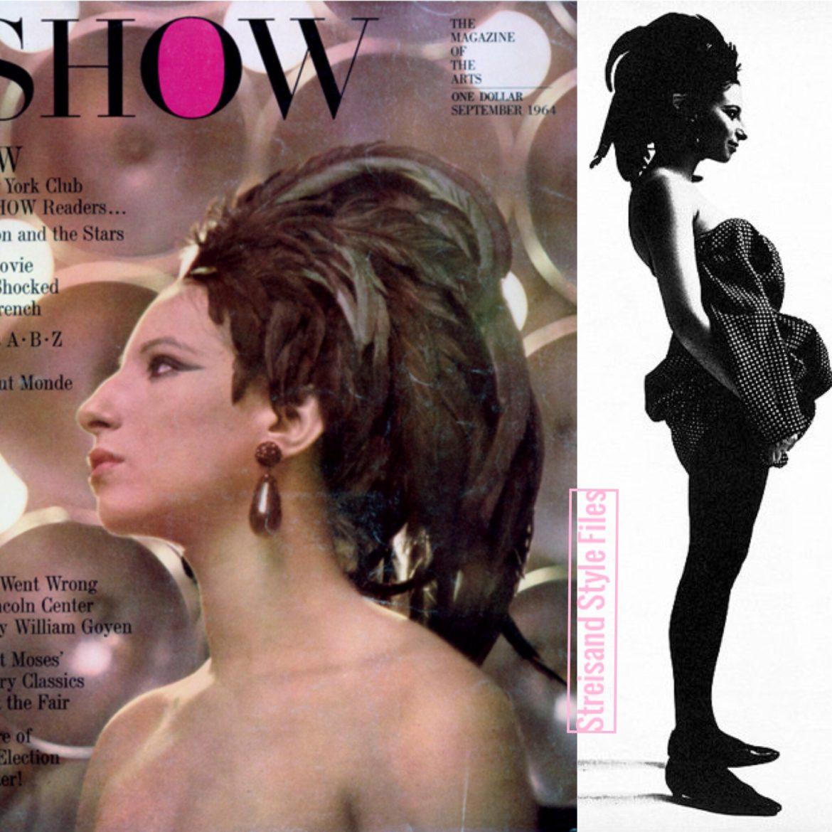 Show Magazine 1964, In A Leon Bennett Feathered Headpiece