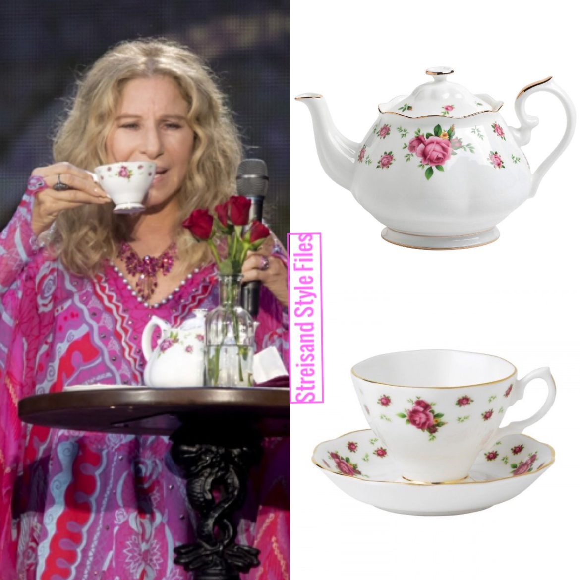Barbra's Hyde Park Concert Royal Albert Teapot And Teacup