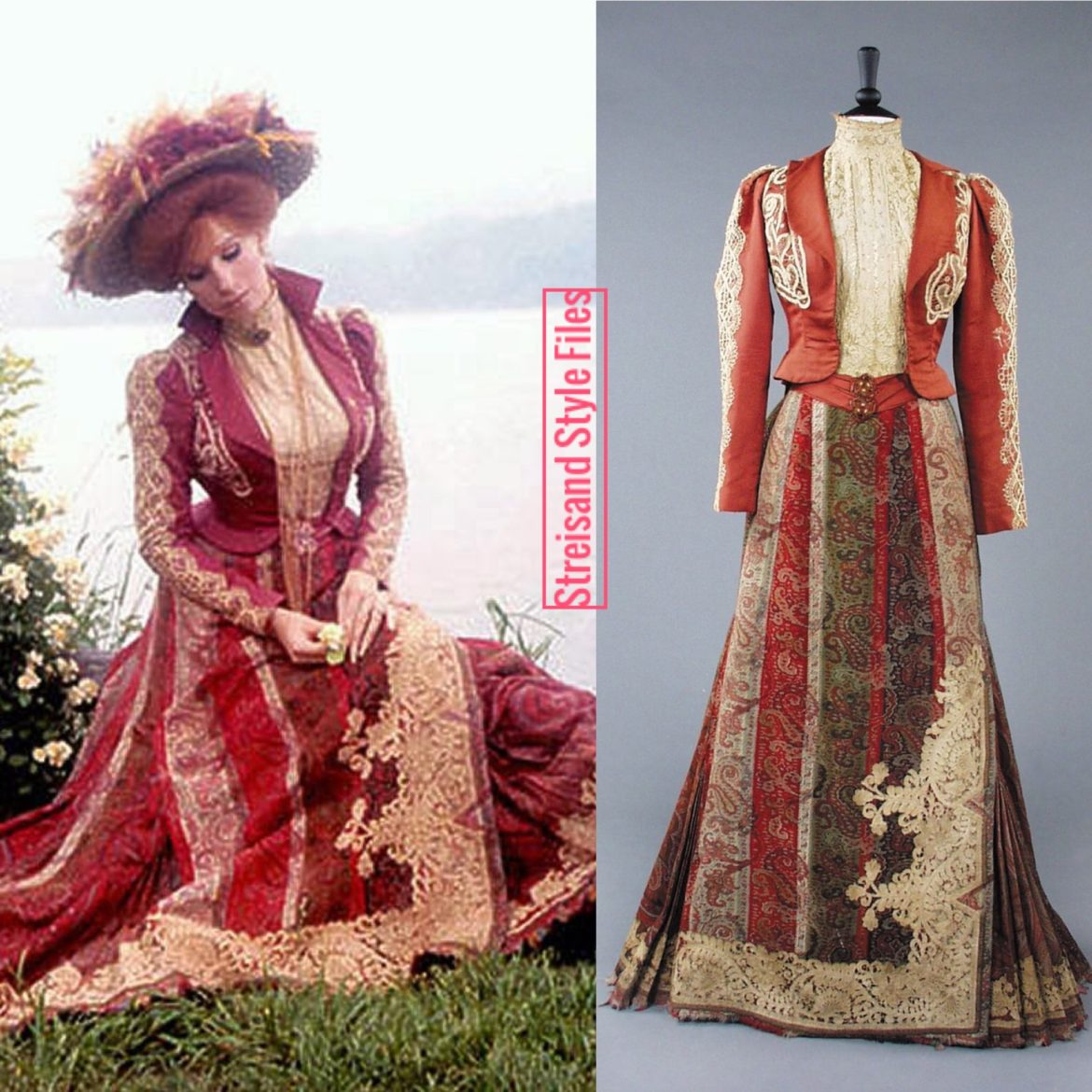 Hello, Dolly! Burgundy Victorian Gown