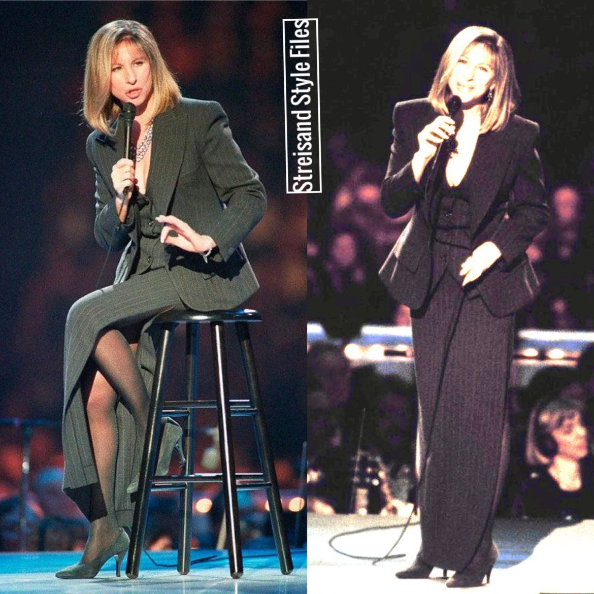 """She was all man and all women."" Performing at Bill Clinton's 1993 Inaugural Gala in a pin-striped, three piece skirt suit"