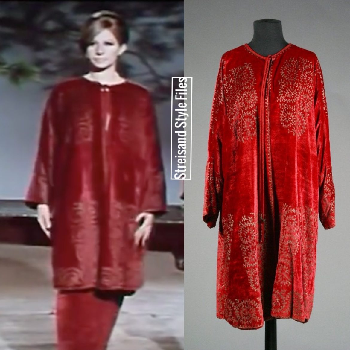 A Fortuny Velvet Evening Coat From Funny Girl