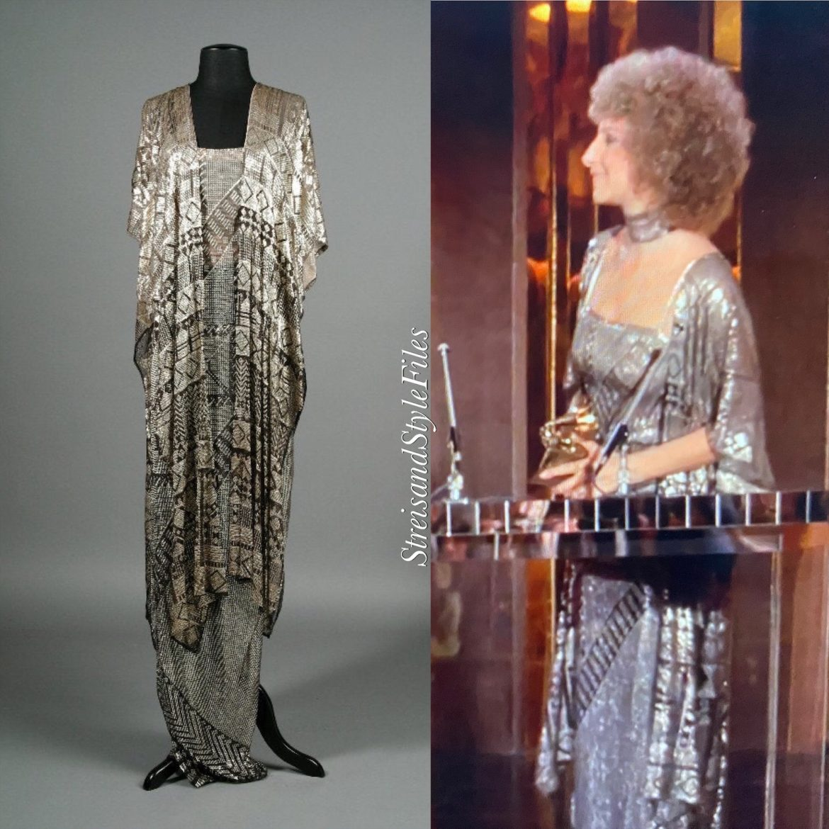 """A Star Is Born"" Silver Art Deco Gown, Designed By Barbra Streisand"