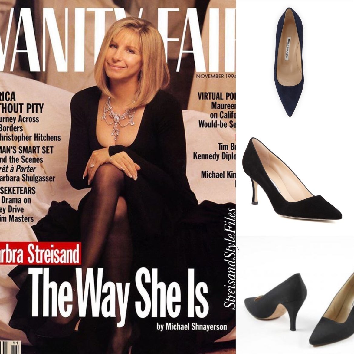 In Manolo Blahnik Pumps On The Cover Of November 1994's Vanity Fair.