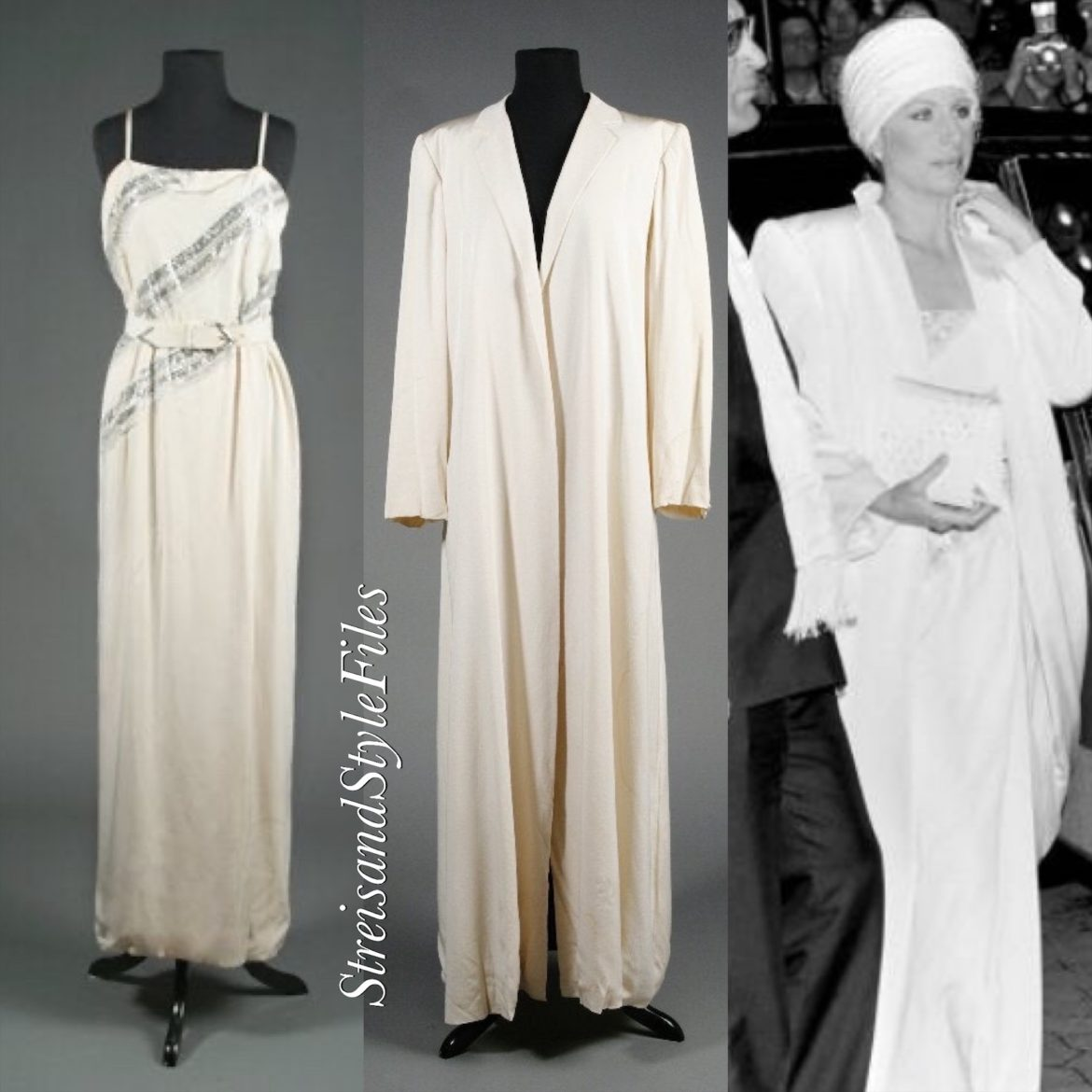 In Dior For The 1984 London Yentl Premier And 1986 Academy Awards