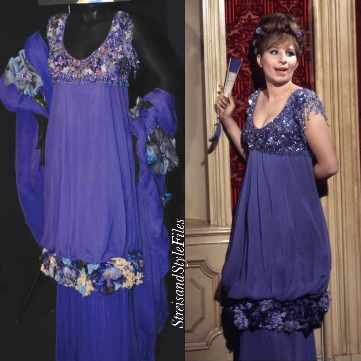 "Funny Girl's Lavender-Blue ""You Are Woman, I Am Man"" Gown By Irene Sharaff"