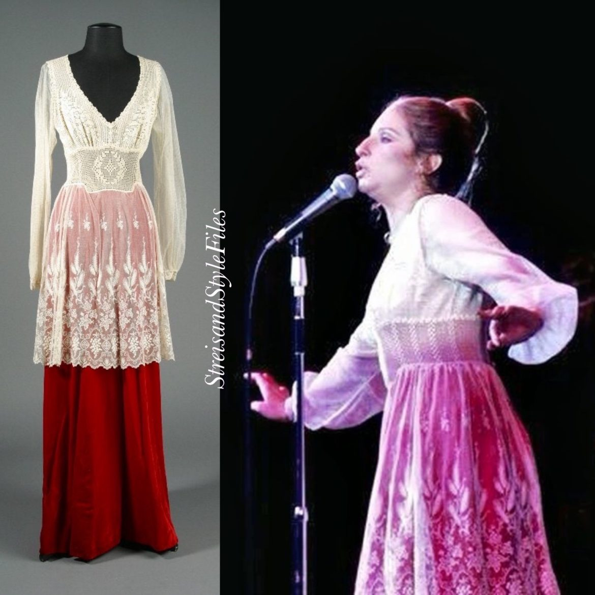 In A Self-Designed Choir Boy Inspired Gown During A 1971-1972 Engagement At The Las Vegas Hilton