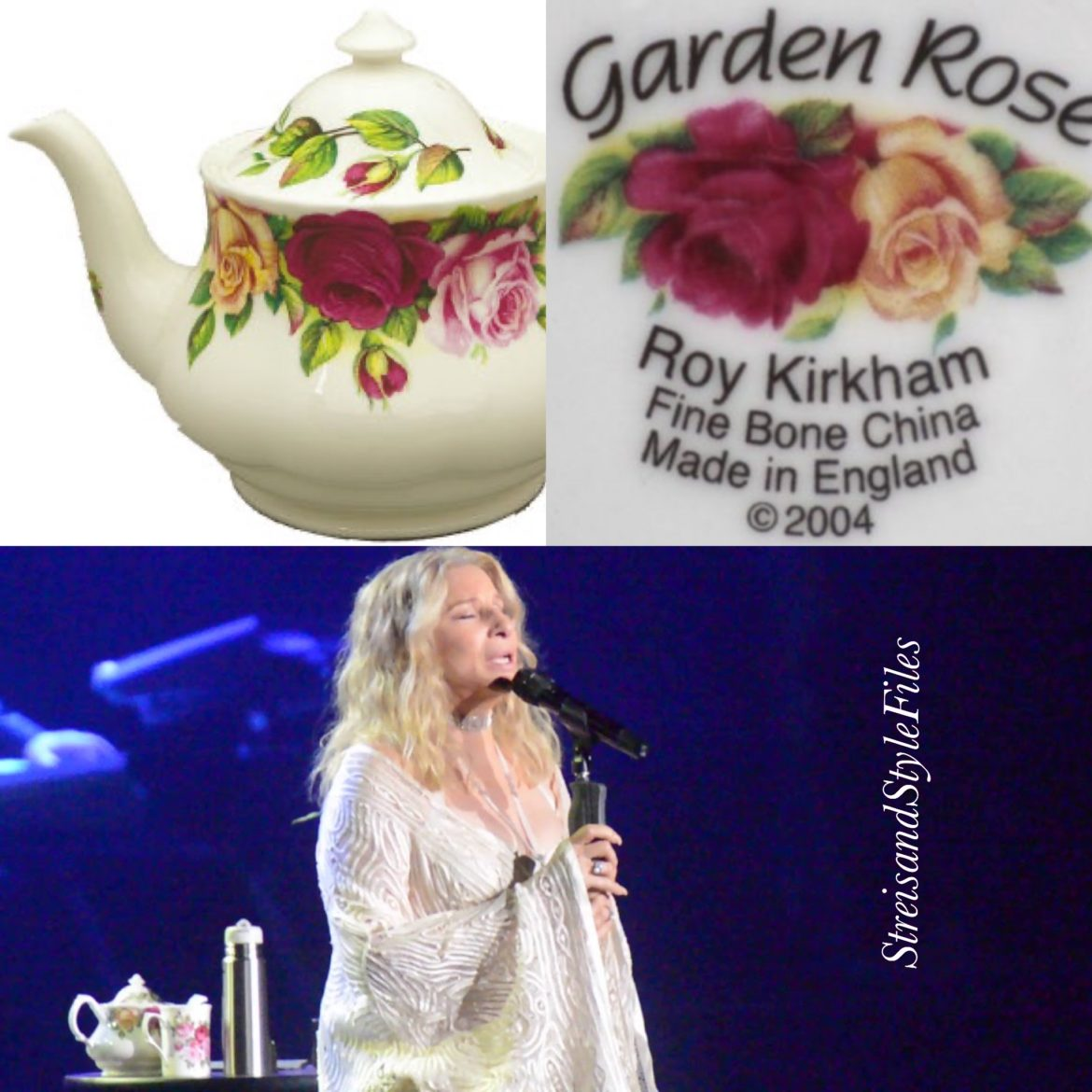 "2019 NYC and Chicago concerts Roy Kirkham ""Garden Roses"" teapot"