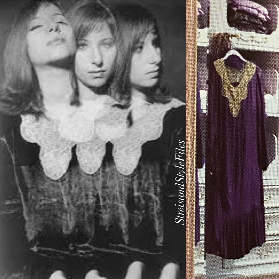 1920's violet silk-velvet dress from personal collection