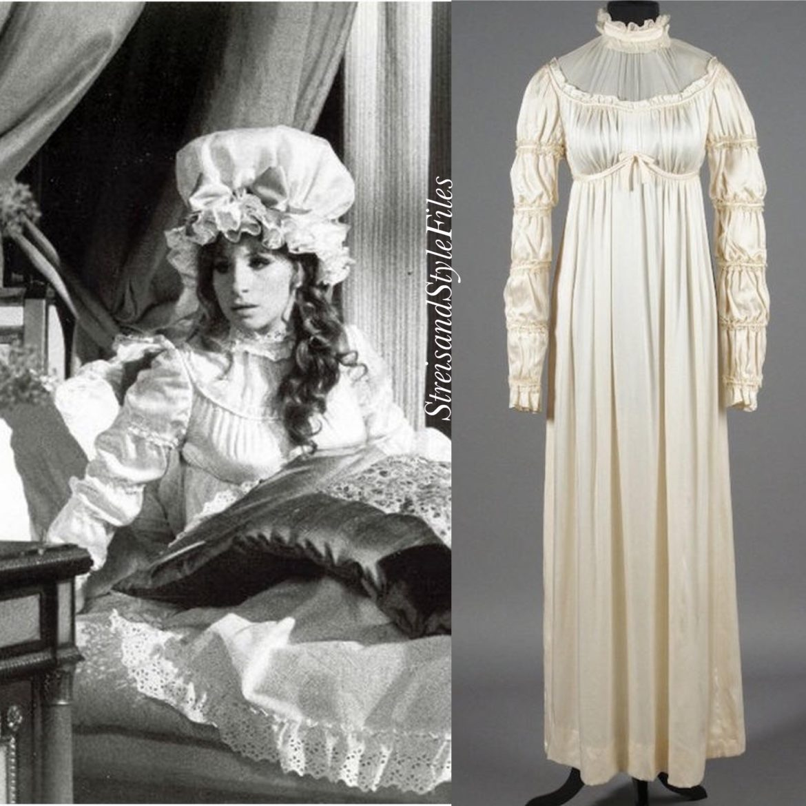 """On a Clear Day You Can See Forever"", Recency nightdress and mob cap by Cecil Beaton"
