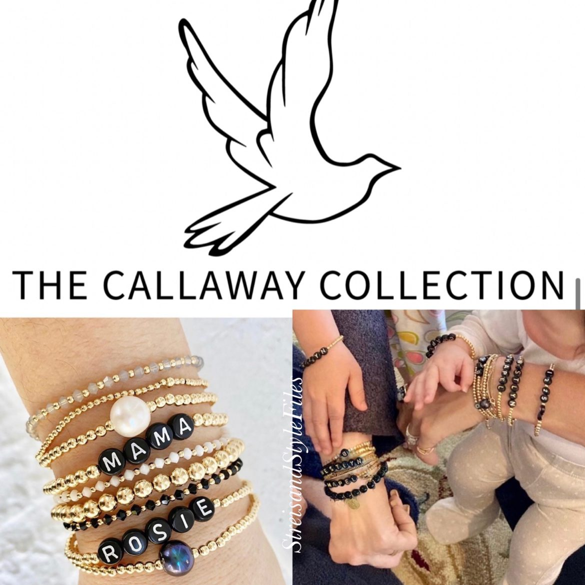 Barbra's custom name bracelets from The Callaway Collection