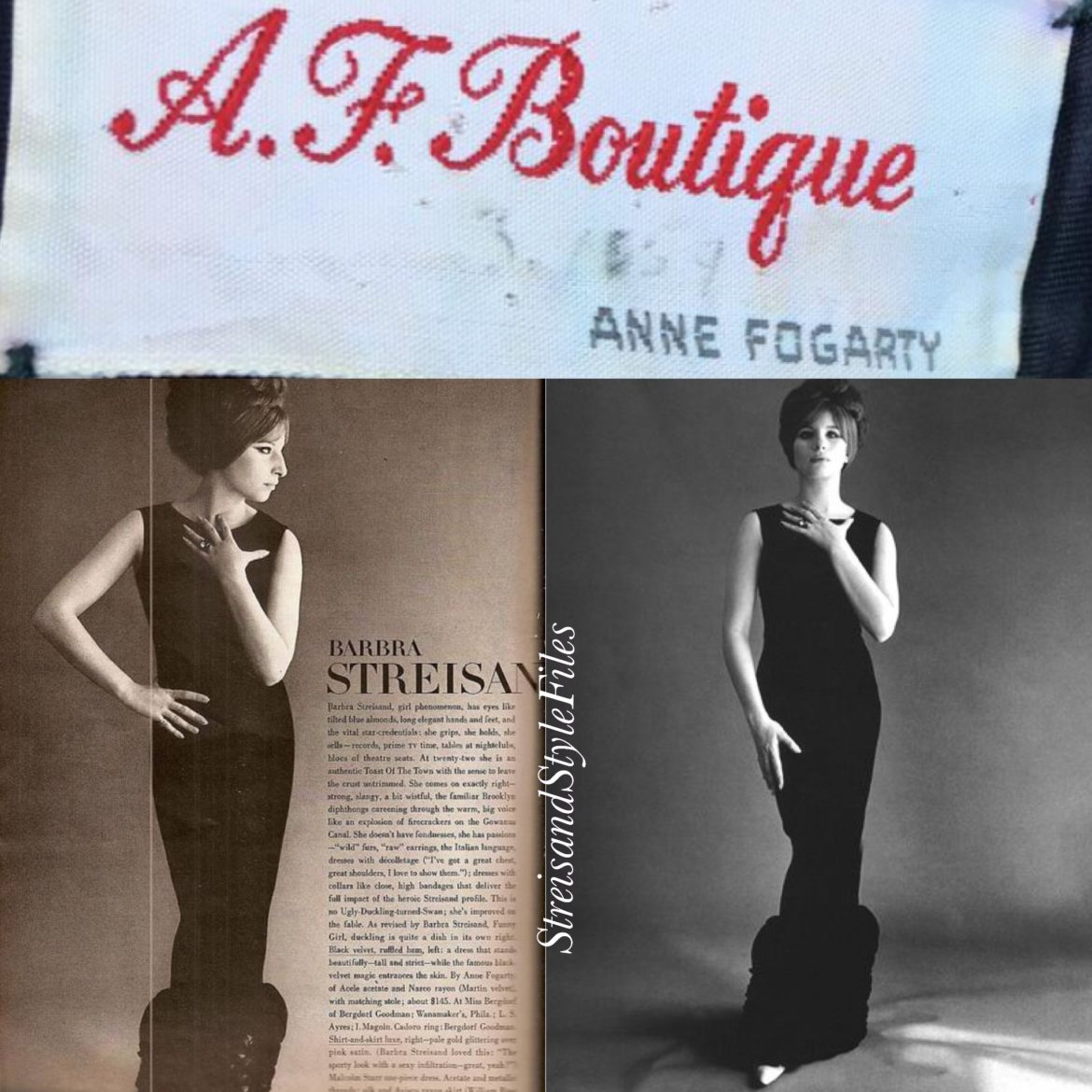 Wearing Anne Fogarty in the August 1, 1964 edition of Vogue